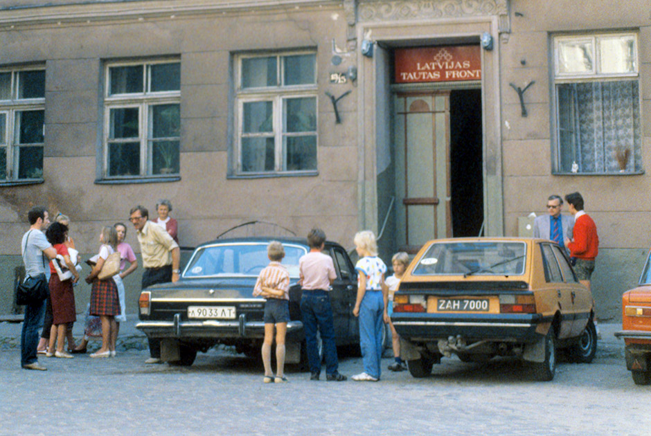 Штаб Народного фронта Латвии. 1989 год