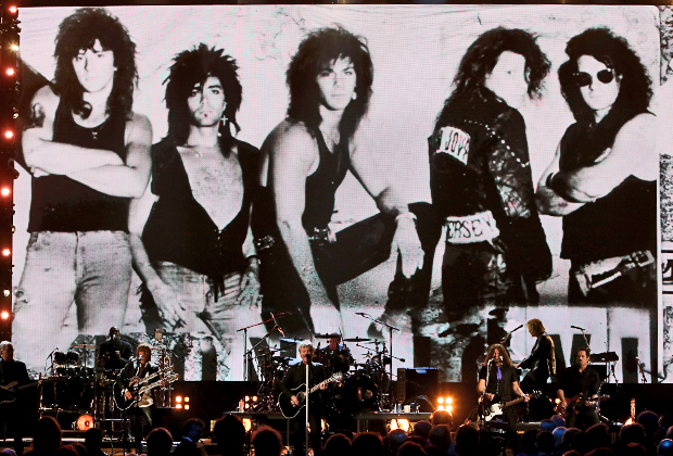 14 апреля 2018 года. Церемония вступления группы Bon Jov в Зал рок-н-рольной славы