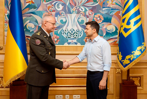 Руслан Хомчак и Владимир Зеленский