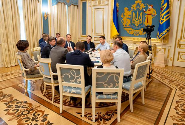 Встреча президента Украины Владимира Зеленского с руководством Верховной Рады и парламентских фракций