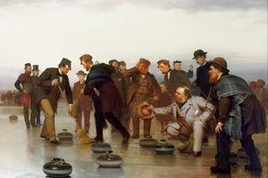 Фрагмент картины Джона Джорджа Брауна «Керлинг — шотландская игра. В Центральном парке», 1862 год