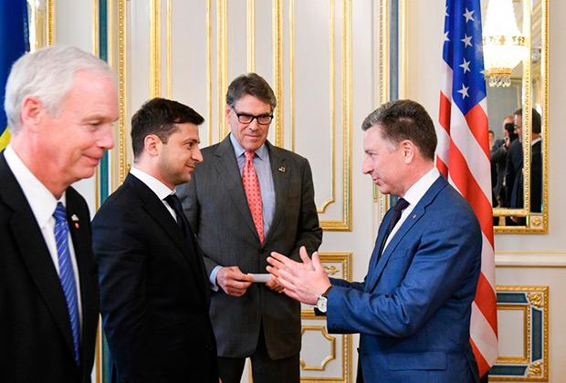 Владимир Зеленский  с делегацией США