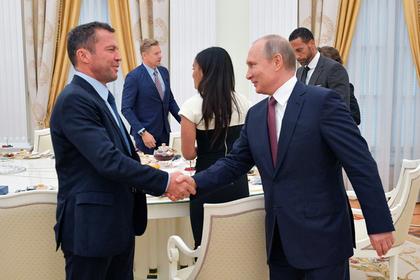 Лотар Маттеус и Владимир Путин