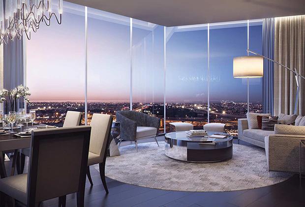 Двухкомнатные апартаменты с видом на канал в современной резиденции, недалеко от набережной, Дубай, ОАЭ