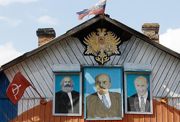Фасад одного из частных домов Шатурского района (2011)