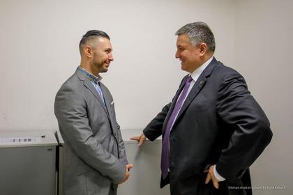 Виталий Маркив с министром внутренних дел Украины Арсеном Аваковым