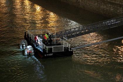 Спасательные работы на реке Дунай