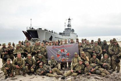 Участвовавшие в боях за Дебальцево украинцы провели учения рядом с Крымом