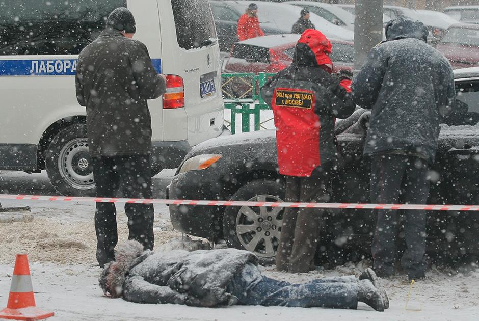 Место убийства Романа Маслова