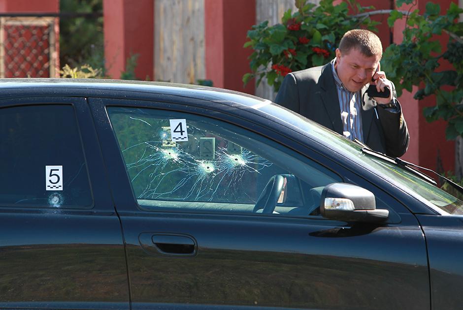 Расстрелянный автомобиль Евгения Душко