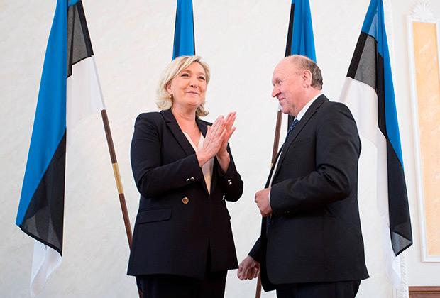 Март Хельме приветствует Марин Ле Пен