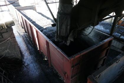 Отгрузка угля на шахте