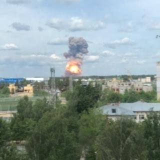 Взрыв на заводе в Дзержинске