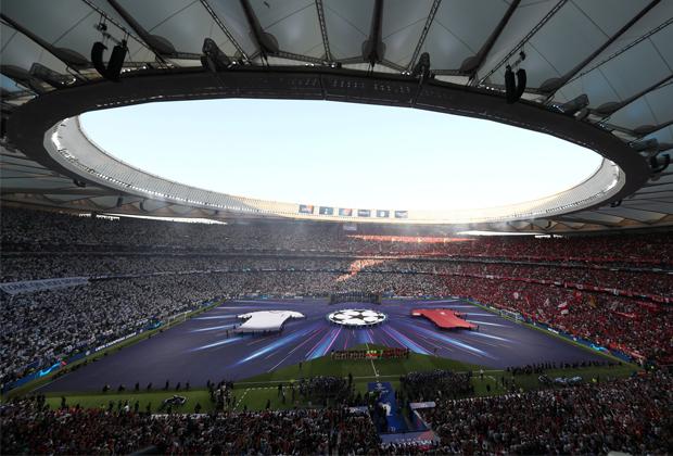 Внутри чаши стадиона «Ванда Метрополитано»