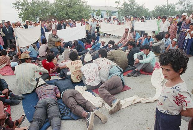 26 августа 1989 года. Лагерь турок-месхетинцев в Ферганской области