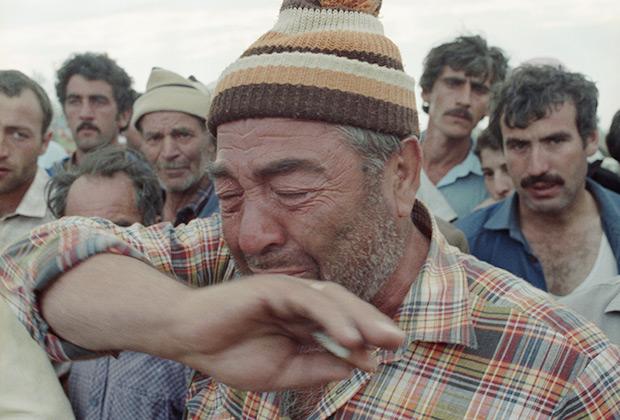 Турки-месхетинцы в лагере беженцев