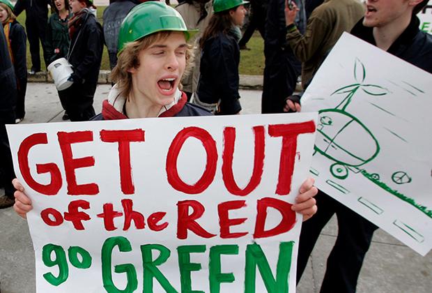 Американские «зеленые» выступают за сокращение вредных выбросов в атмосферу
