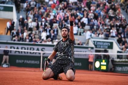 Российский теннисист вышел в четвертьфинал «Ролан Гаррос»