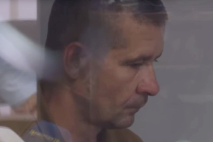 Один из подозреваемых в зале суда
