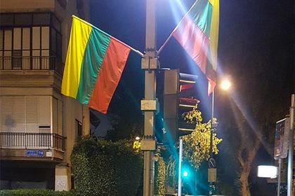 Флаги Литвы использовали вместо флагов ЛГБТ