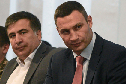 Михаил Саакашвили и Виталий Кличко