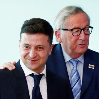 Владимир Зеленский и Жан-Клод Юнкер