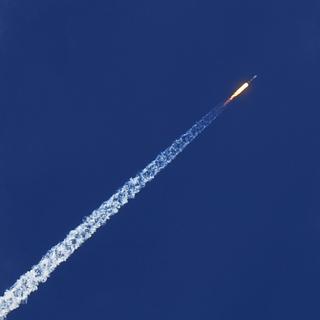 Старт ракеты-носителя «Союз-СТ»