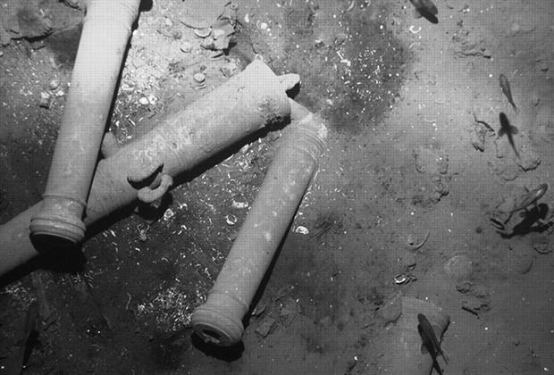 Пушки «Сан-Хосе» на дне океана