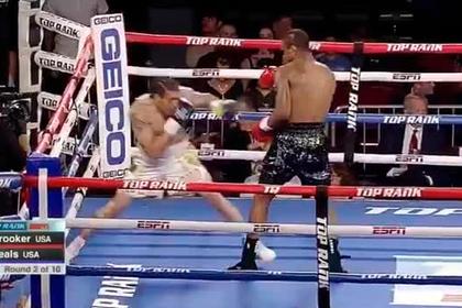 Боксер «отключил» соперника спорным ударом