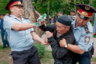 Задержания на несанкционированном митинге в Алматы