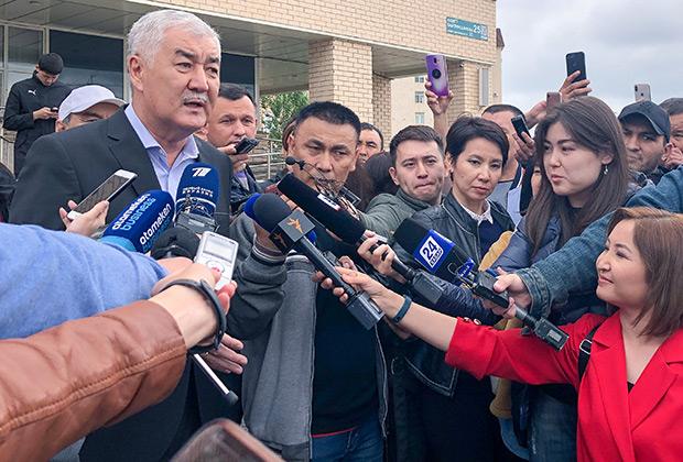Амиржан Косанов после голосования