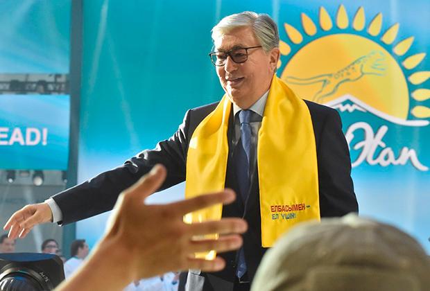 Выборы в Казахстане. День второй. Кандидат в президенты Казахстана Касым-Жомарт Токаев на встрече с избирателями