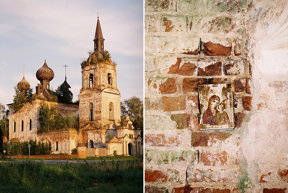 Церковь в Веретее. Скорее всего, при ее строительстве использовали бревна Янского леса, который был вырублен под затопление