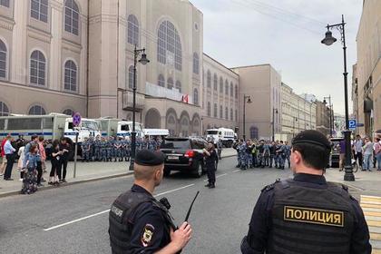 МВД назвало число участников акции в центре Москвы