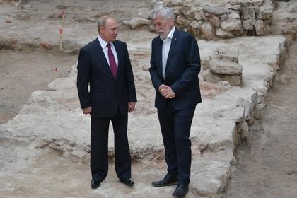 Путину понравились раскопки Кремля