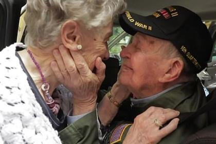 Ветеран войны встретился с возлюбленной спустя 75 лет разлуки