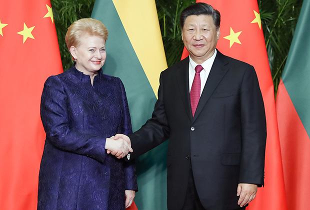 Президент Даля Грибаускайте и председатель Си Цзиньпин