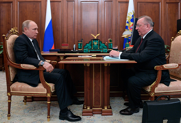 Владимир Путин и Николай Токарев