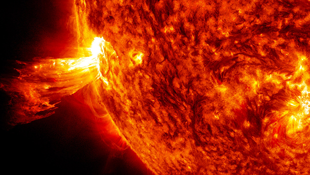 Фотография солнечной вспышки