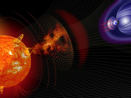 Взаимодействие между облаком плазмы и электромагнитным полем Земли