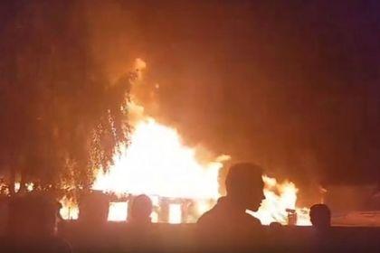 Рядом с Чемодановкой начался пожар