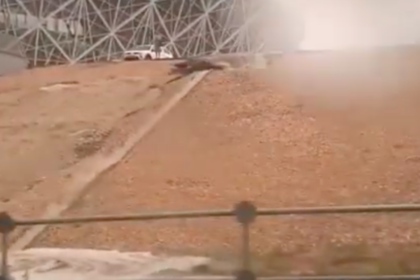 Стадион чемпионата мира в России затопило