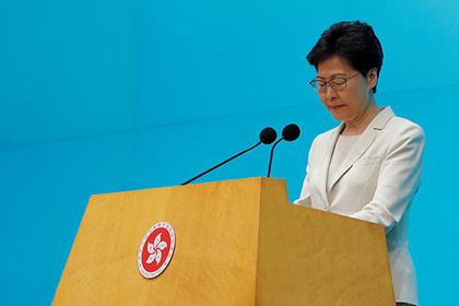 Глава Гонконга извинилась перед народом