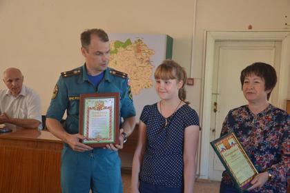 Российская третьеклассница спасла семью из пожара
