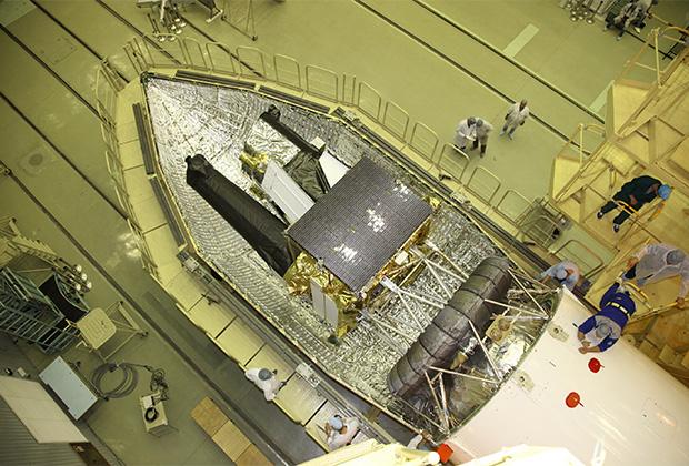 Космический аппарат «Спектр-РГ» в головном обтекателе