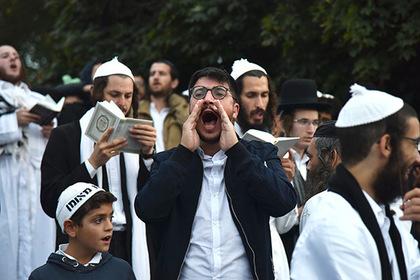 Паломники-хасиды, прибывшие в город Умань на празднование Нового года Рош ха-Шана.