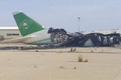 Уничтоженный в Триполи самолет Ан-124