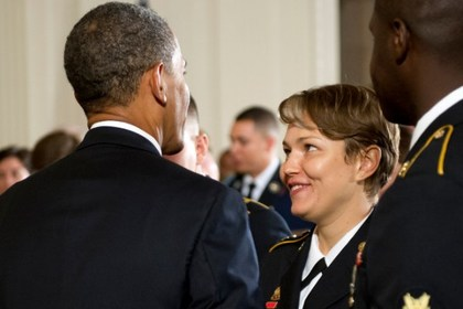 Алла Аушева и Барак Обама