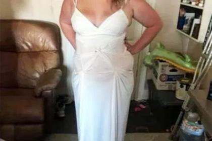 Невеста перешила платье в домашних условиях и была осмеяна в сети