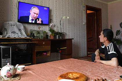 Подсчитана популярность прямой линии Путина в сети